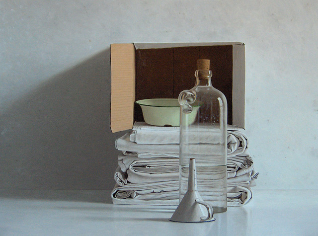 , 'Cloths, box, bottle, bowl and funnel,' 2011, Smelik & Stokking Galleries