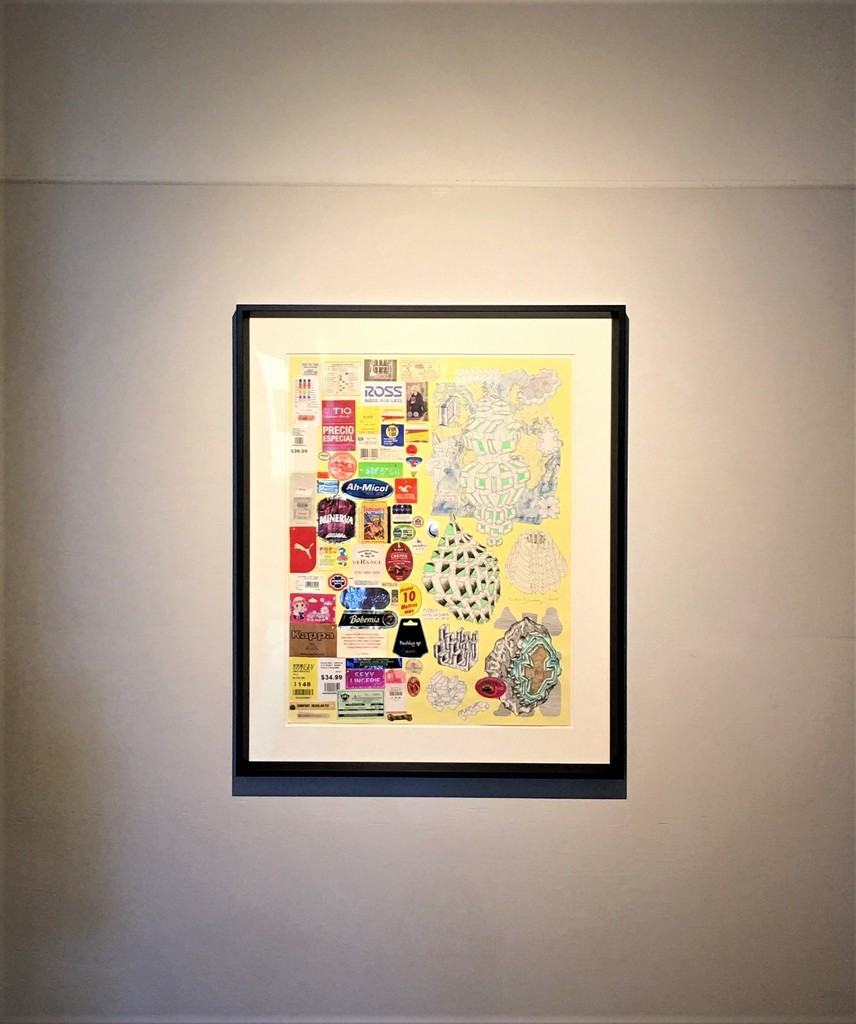"""Cisco Jimenez, """"Stretch,"""" collage and drawings"""