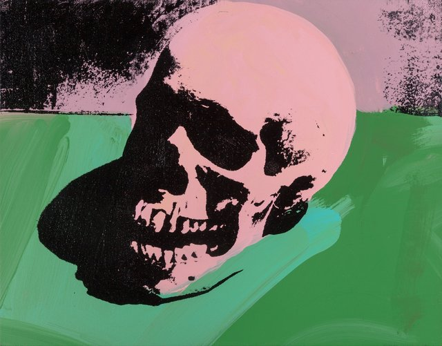 Charles Lutz, 'Skull (Pink/Green)', 2007, Painting, Silkscreen and acrylic on canvas, Heritage Auctions