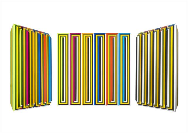 , 'V 50 - 2015 umlaufende gelbe Linie ,' 2015, Joerg Heitsch Gallery