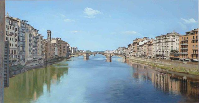 David Wheeler, 'View of River Arno from Ponte Vecchio Bridge', Plus One Gallery