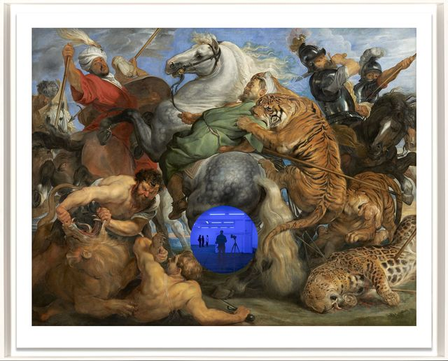 , 'Gazing Ball (Rubens Tiger Hunt),' 2017, Two Palms
