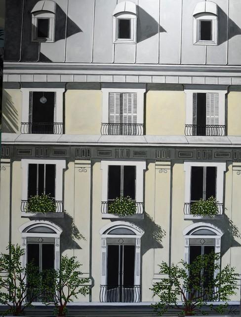 Karen Lynn, ''Paris Facade III' Oil on Canvas Contemporary Painting, Paris', 2020, Painting, Oil on Canvas, Ai Bo Gallery