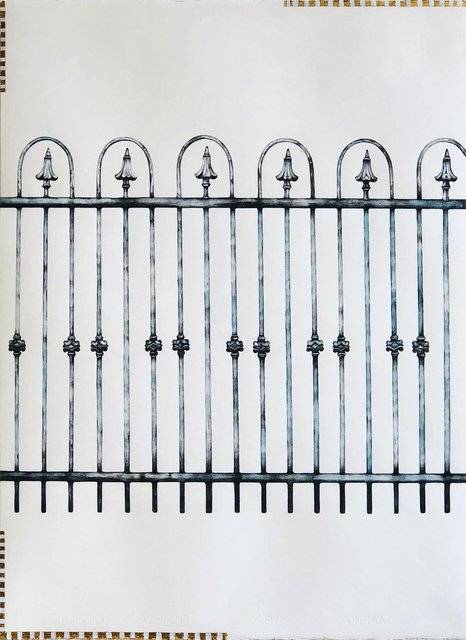 , 'Wrought Iron Fence,' 2017, K. Imperial Fine Art