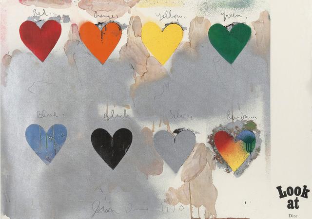 Jim Dine, '8 hearts / look', 1970, Caviar20