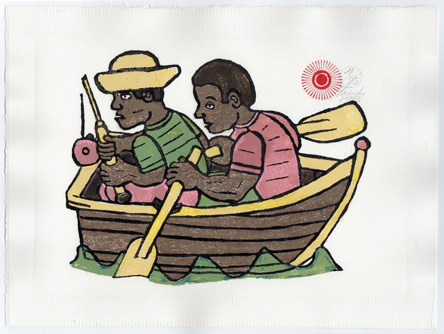 , 'Brothers Fishing (AF Print10),' 2005, The Good Luck Gallery