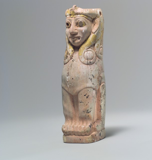 Unknown Assyrian, 'Furniture support: female sphinx with Hathor-style curls', ca. 18th century B.C., The Metropolitan Museum of Art
