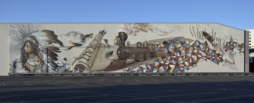 "Installation view of ""Art in the Streets"" at MOCA, Los Angeles (2011)."
