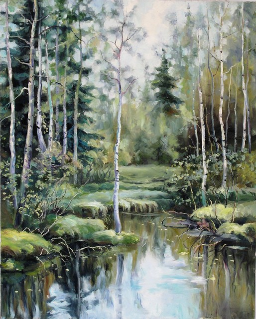 , 'Creek in birches,' 2015, A-Art Shengzan Gallery