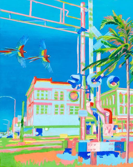 , 'Hafenstadt mit Papageien,' 2017, GALERIE VON&VON
