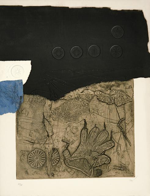 Antoni Clavé, 'La tache bleu', 1974, Print, Carborundum and etching in colours with embossing, Galerie Boisseree
