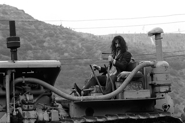, 'Frank Zappa on tractor B&W,' 1960-1970, Mouche Gallery