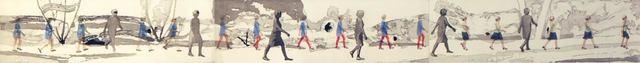 , 'Walking ,' 2013, Freight + Volume