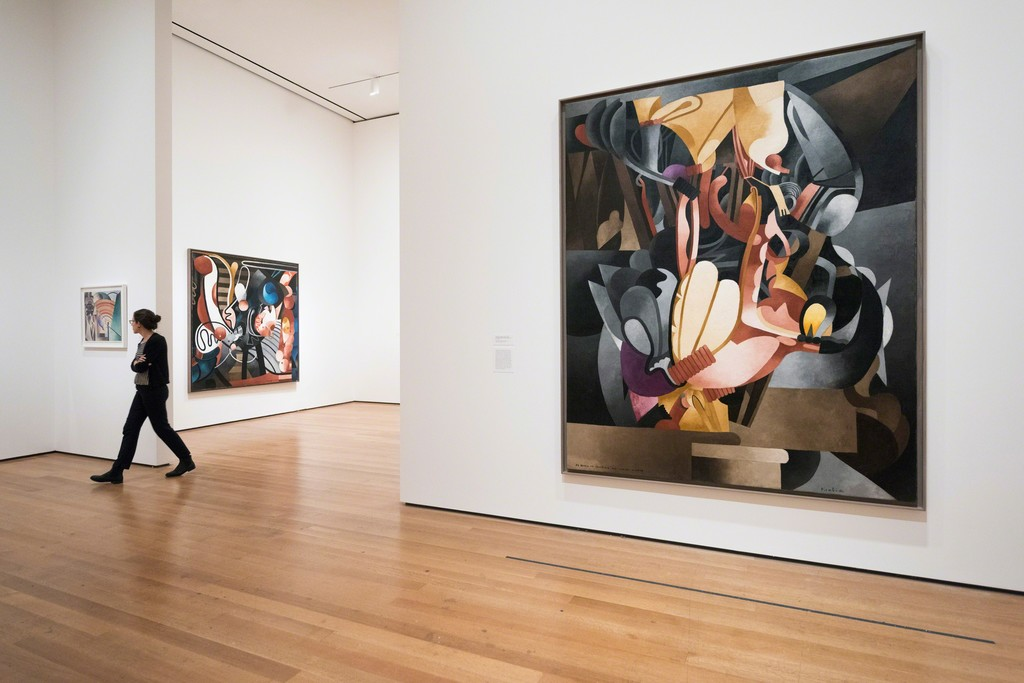 Installation view of Francis Picabia: Our Heads Are Round so Our Thoughts Can Change Direction. The Museum of Modern Art, New York, November 21, 2016-March 19, 2017. © 2016 The Museum of Modern Art. Photo: Martin Seck