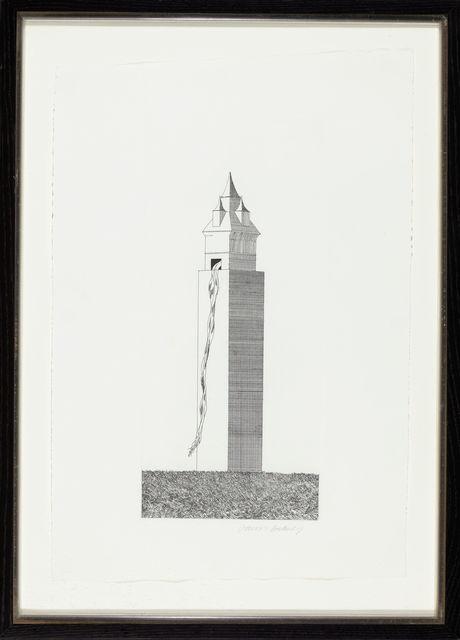 David Hockney, 'The Tower Had One Window', 1969, TAI Modern