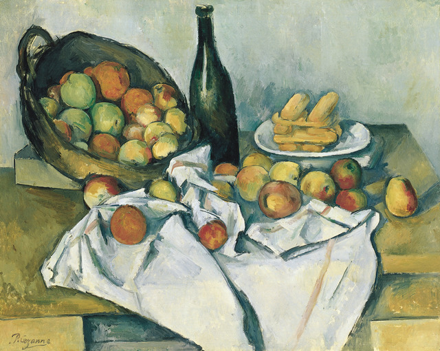 Paul Cézanne, 'Still life with basket of apples,' 1890-1894, Art Institute of Chicago