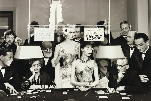 Richard Avedon, 'Sunny Harnett and Alla, Evening dresses by Balmain, Casino, Le Touquet, August', 1954, Phillips