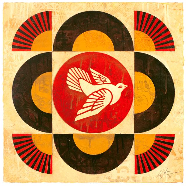 Shepard Fairey, 'Dove Geometric (Cream), ', 2018, Galerie Ernst Hilger