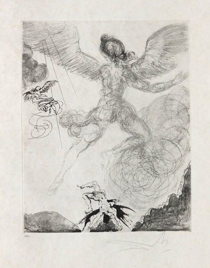 Salvador Dalí, 'Flight and Fall of Icarus', 1963, Print, Drypoint and aquatint etching on Japon paper., Galerie d'Orsay