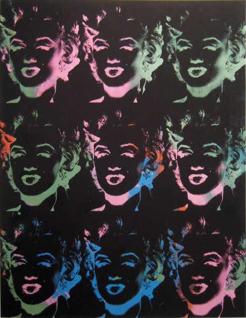 Andy Warhol, 'Nine Multicoloured Marilyns (Reversal Series) ', 1979-1986, Joseph K. Levene Fine Art, Ltd.