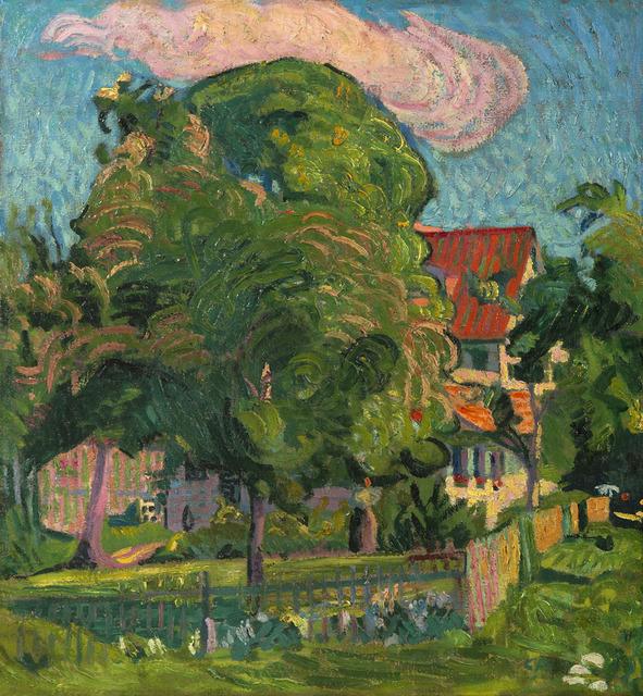 Cuno Amiet, 'Paysage à la maison rouge', 1909, HELENE BAILLY GALLERY