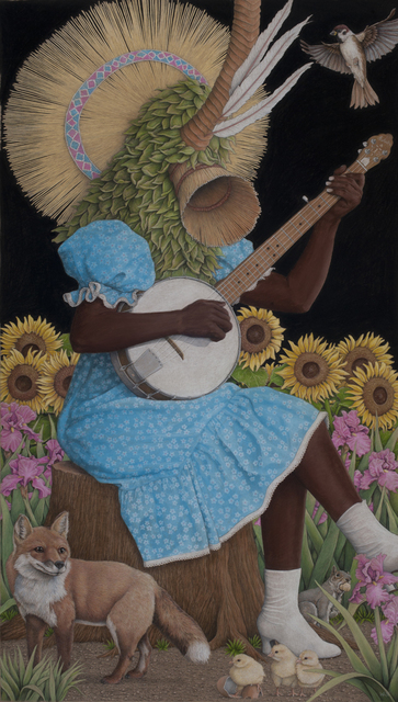 , 'Banjo Player,' 2019, Jonathan LeVine Projects