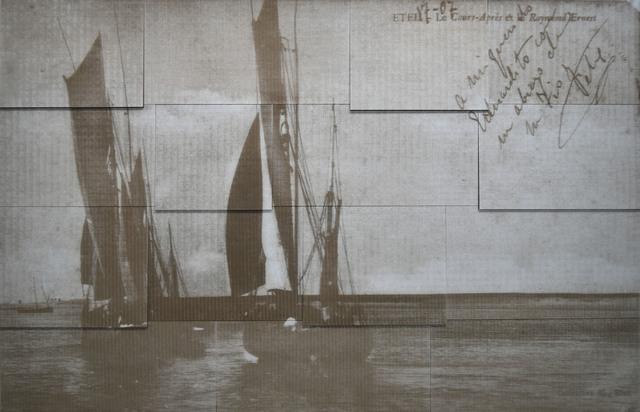 , 'Untitled, Sailboats / Postcards,' 2019, La Patinoire Royale / Galerie Valerie Bach