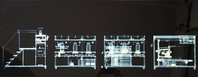 Wim Delvoye, 'Cloaca x rayed B/W', 2003, Photography, C-Print, Kunzt Gallery