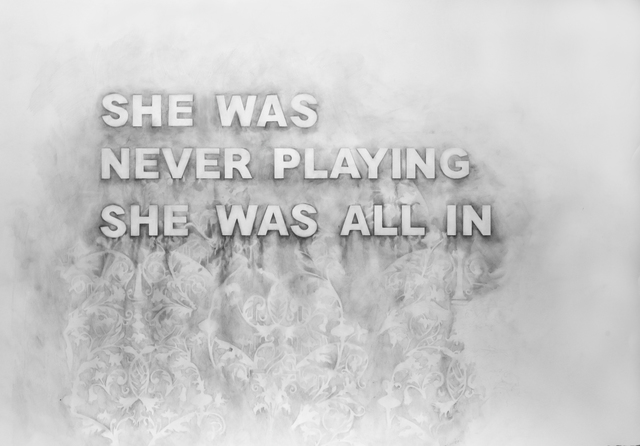 , 'She Was Never Playing She Was All In ,' 2017, Winston Wächter Fine Art