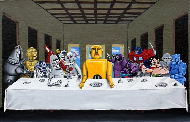 , 'Robot Last Supper,' 2012-2019, {9} The Gallery