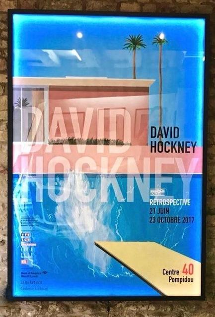 , 'Large back-lit A bigger Splash, Pompidou Exhibition Poster (Extremely rare) David Hockney,' 2017, A Bigger Gallery