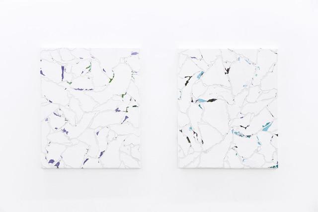 , 'Modern Paintings No. B52a-b(fili d'erba e fiori, Manchester, Luglio 2012),' 2012, Vistamare
