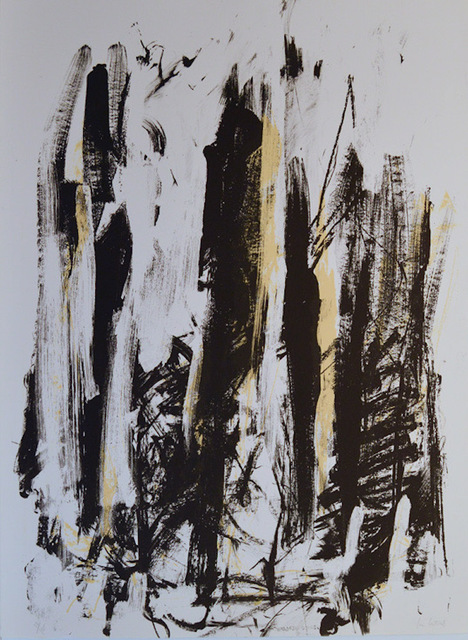 Joan Mitchell, 'Arbres (Black and Yellow)', 1991-1992, F.L. Braswell Fine Art