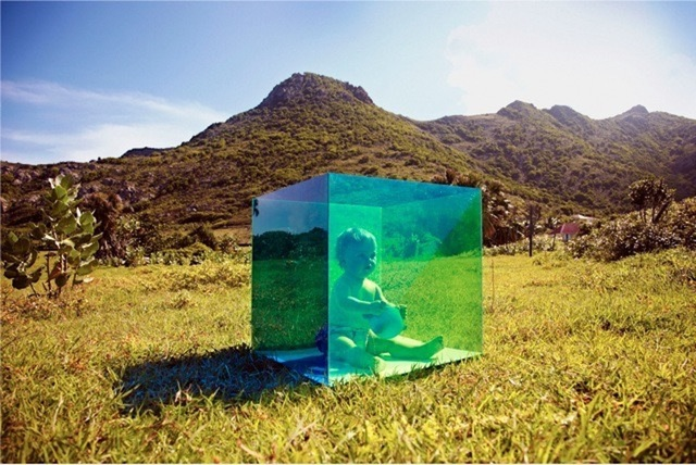 , 'Untitled (Baby in Box, St. Barts) from the COLORSHAPE Series,' 2013, Grob Gallery
