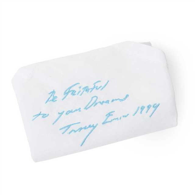 """Tracey Emin, '""""BE FAITHFUL TO YOUR DREAMS"""" EMBROIDERED HANDKERCHIEF', Tate Ward Auctions"""