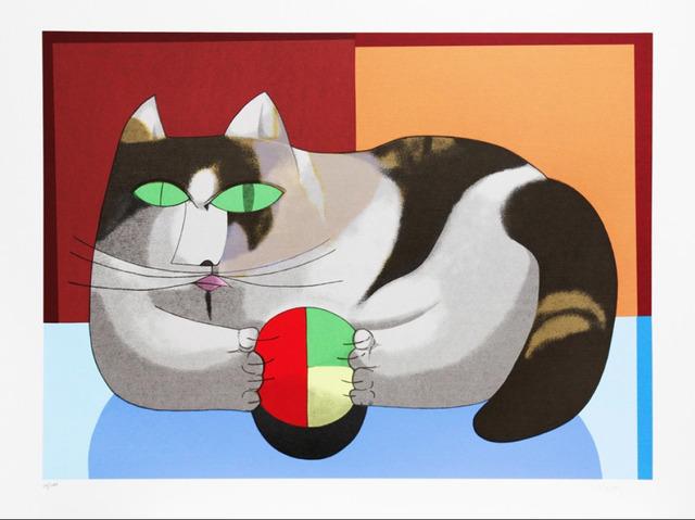 Inos Corradin, 'Cat and ball', 2011, Print, Serigraphy, Ligia Testa Espaço de Arte