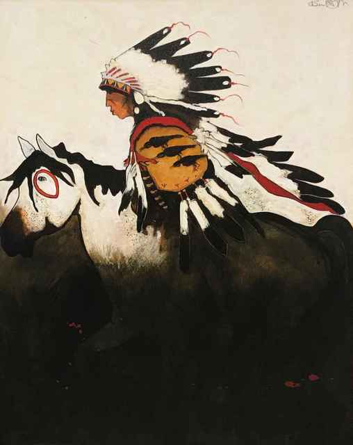 , 'Three Raven - Crow Indian War Horse,' , Sorrel Sky Gallery