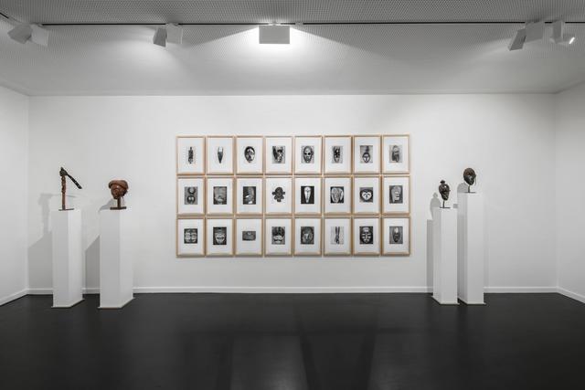 , 'African Masks After Walker Evans: 1-24,' 2014, MARUANI MERCIER GALLERY