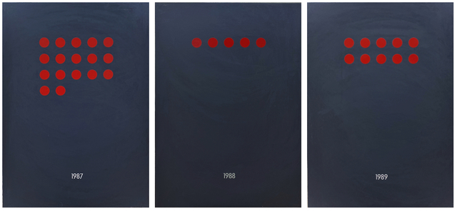 David Diao, 'Sales', 1992, Painting, Acrylic and vinyl on canvas (25 canvases; each 21 x 17.4 inches), Postmasters Gallery