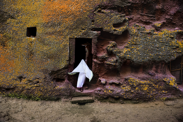 , 'Woman Enters Medieval Rock-Hewn Church, Ethiopia,' 2016, Cavalier Galleries