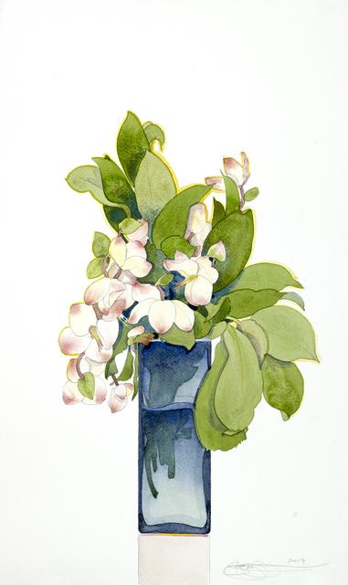 Gary Bukovnik, 'Blossoms in a Blue Vase', 2019, Jody Klotz Fine Art