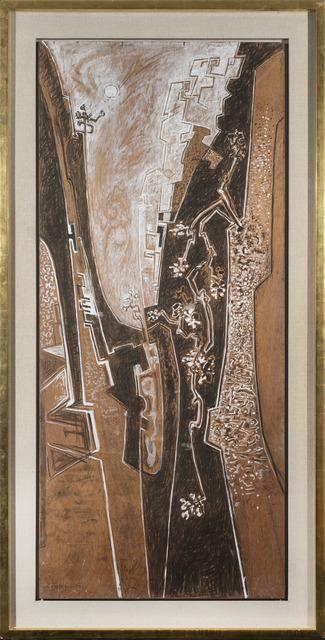 John Craxton, 'Cretan Gorge', 1970, Painting, Tempera on wood, Osborne Samuel