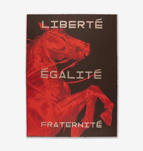 FAITH XLVII, 'Liberté Egalité Fraternité I', 2019, Print Them All