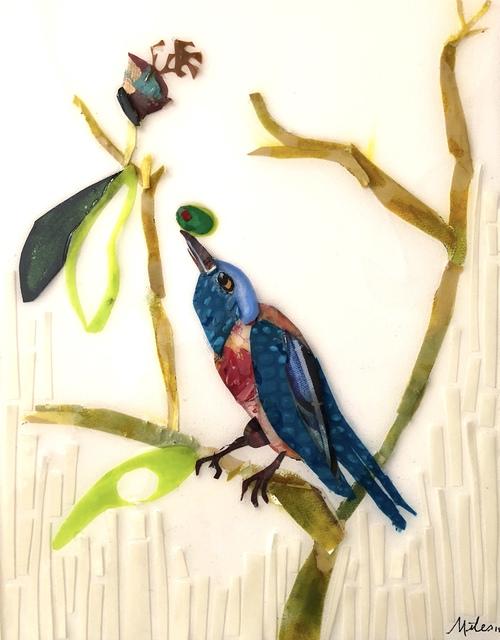 Miles Purvis, 'Martini Birds of America: The Western Blue Bird', 2018, Miller Gallery Charleston