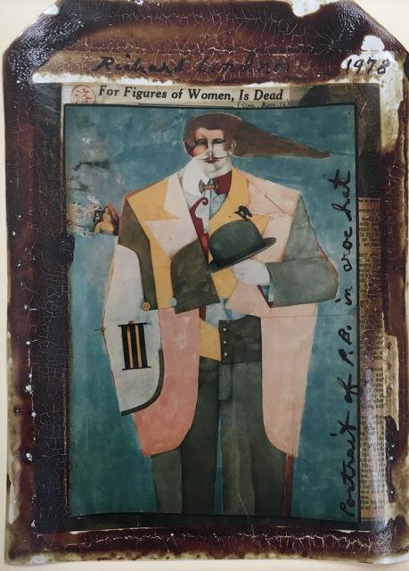 Peter Beard, 'Portrait of P.B. in Croc Hat, Richard Lindner ', 1978, Fischtein Fine Art