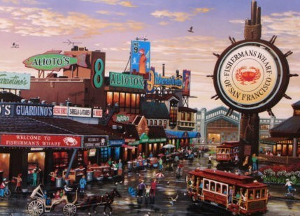 , 'Fishermans Wharf,' , The Loft Fine Art