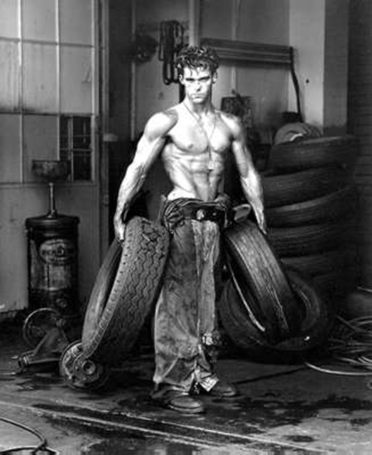 , 'Fred with Tires, Hollywood,' 1984, Staley-Wise Gallery