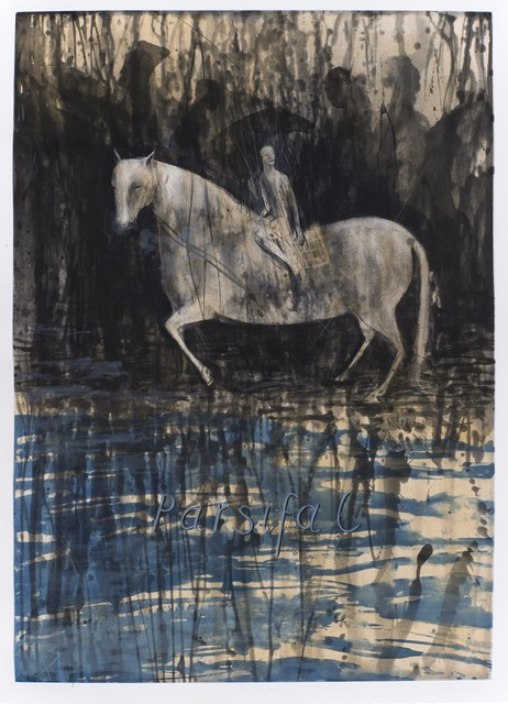 Deborah Bell, 'Parsifal', 2014, Print, Sugarlift and spitbite aquatint, drypoint and handpainting, David Krut Projects