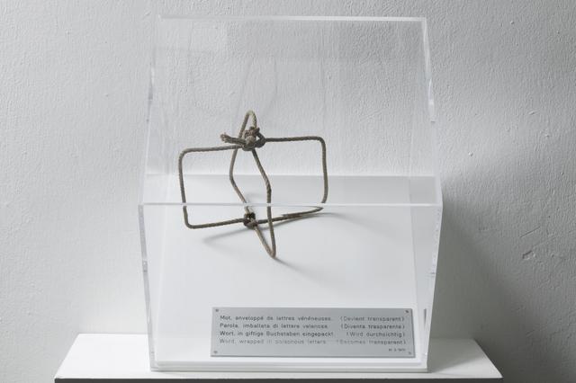 , 'Wort, in giftige Buchstaben eingepackt (wird durchsichtig),' 1970, LEVY Galerie