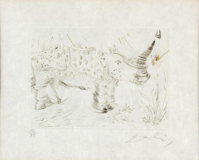 Salvador Dalí, 'Rhinoceros', Bertolami Fine Arts